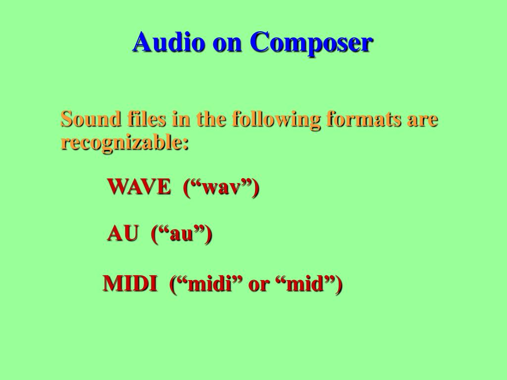 Audio on Composer