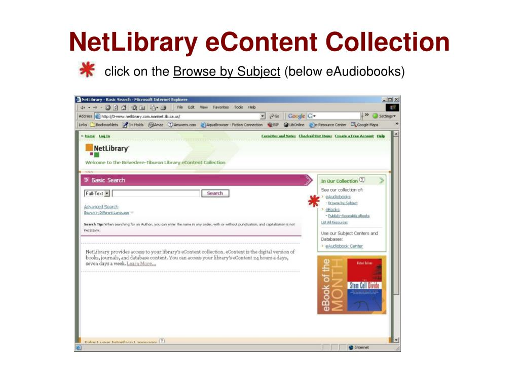 NetLibrary eContent Collection