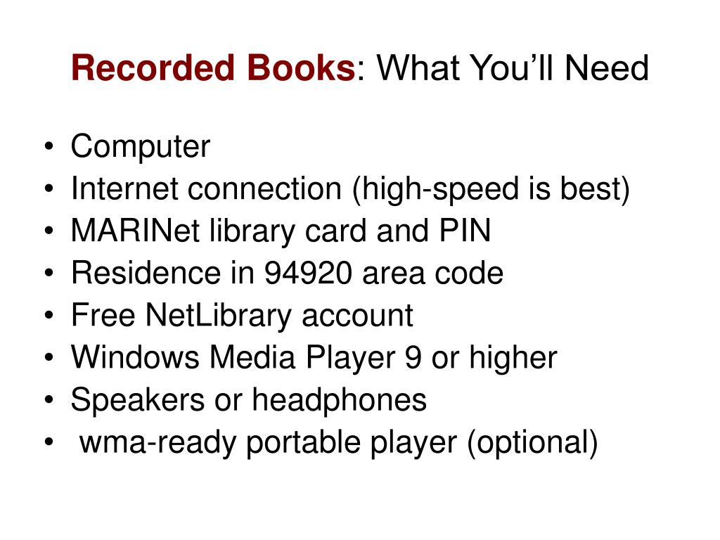 Recorded Books