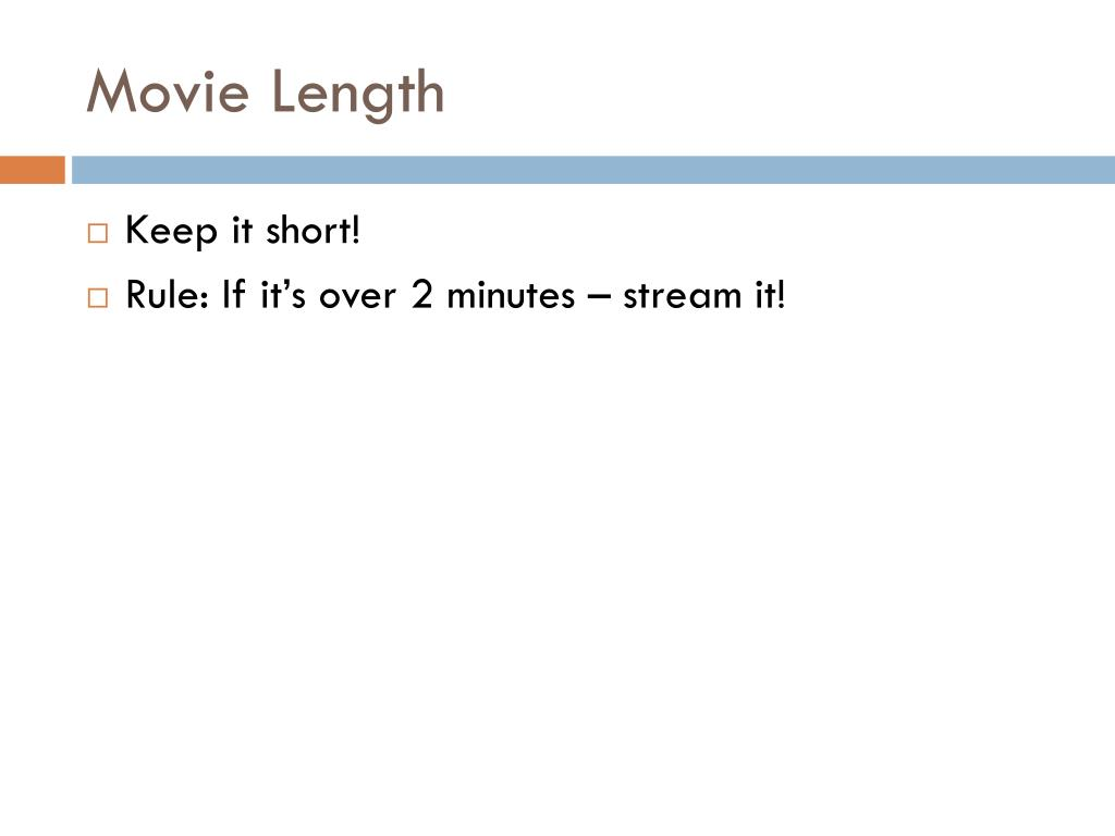 Movie Length