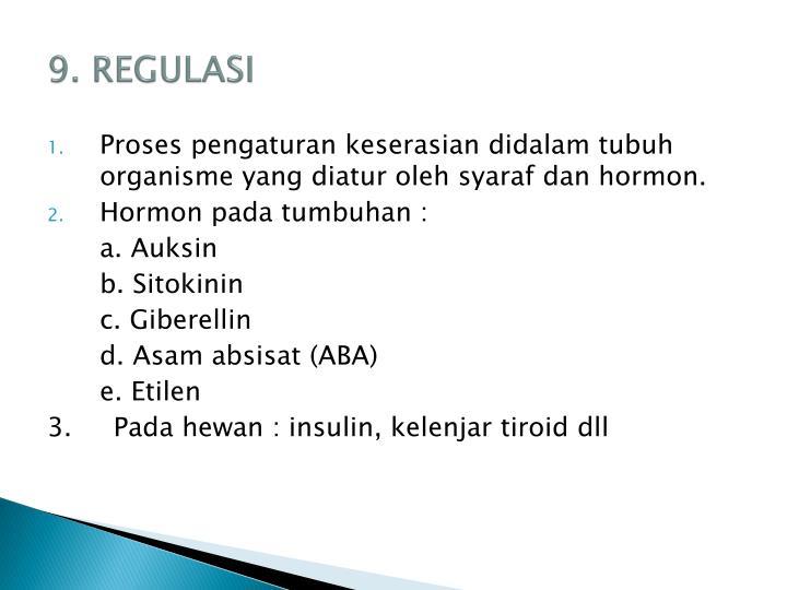 9. REGULASI
