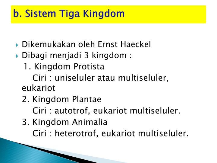 b. Sistem Tiga Kingdom