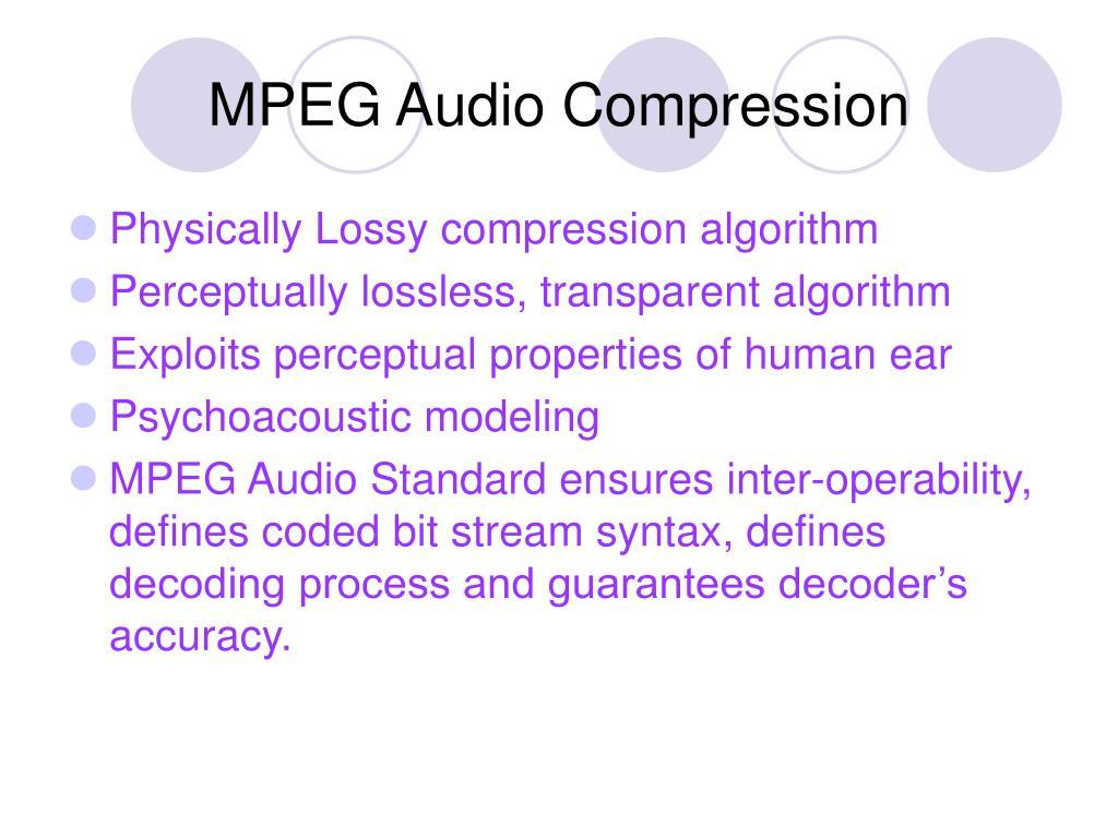 MPEG Audio Compression