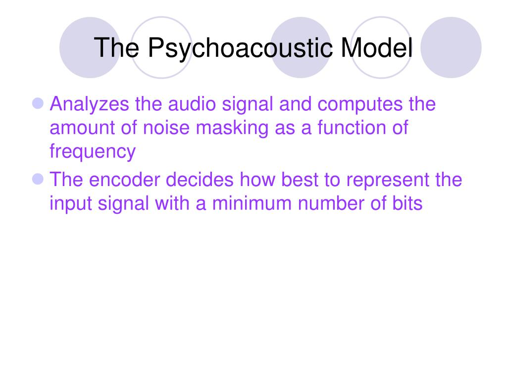 The Psychoacoustic Model