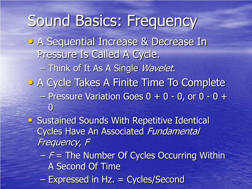 Sound Basics: Frequency