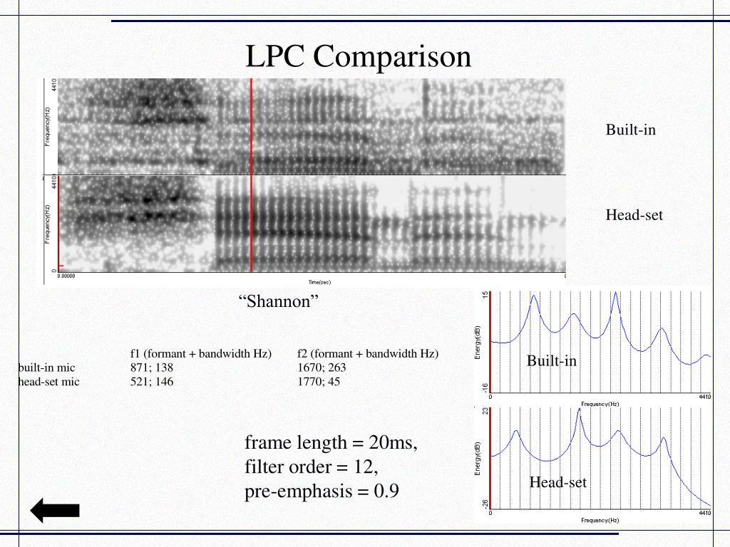 LPC Comparison