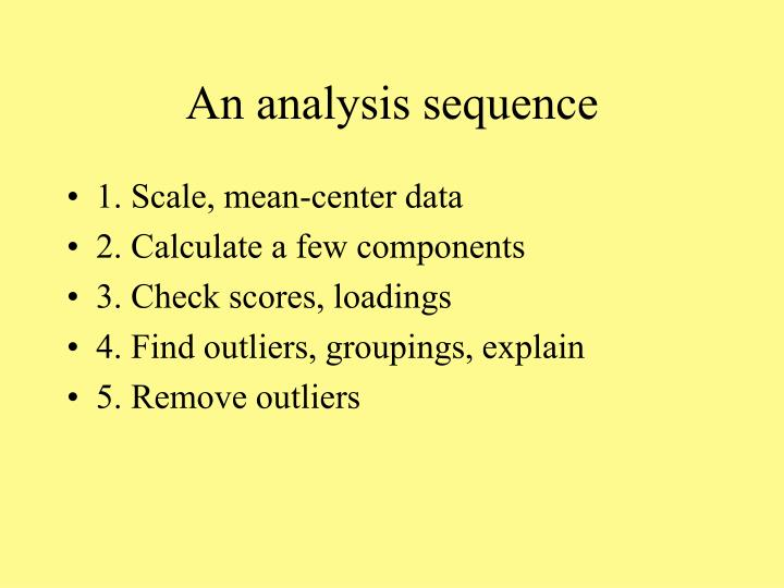 An analysis sequence