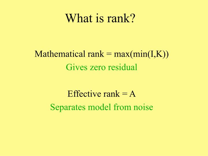 What is rank?