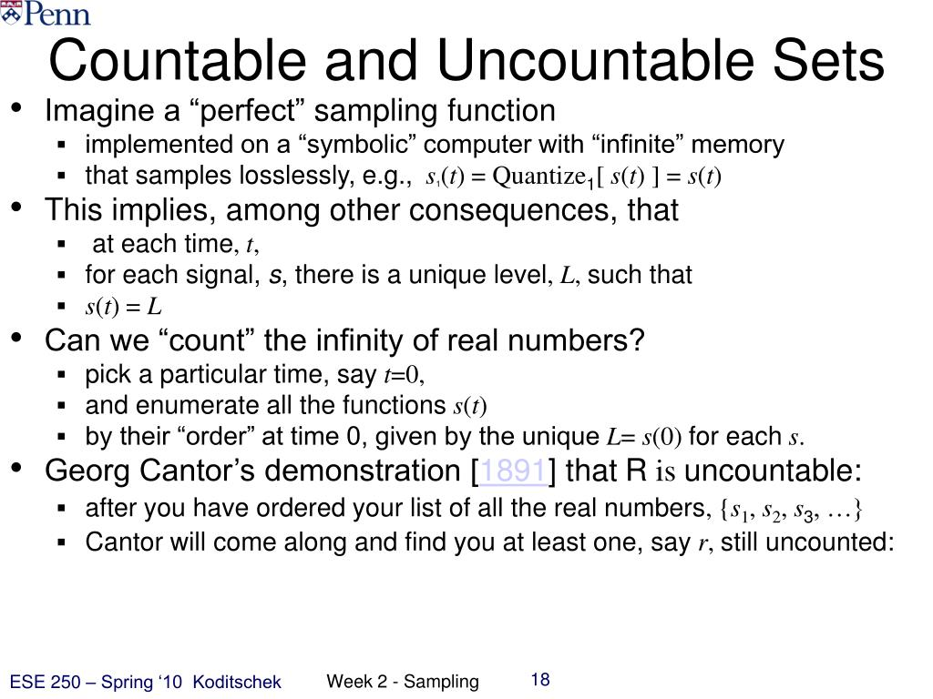 Countable and Uncountable Sets