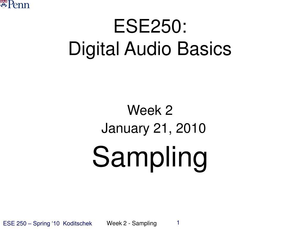 ESE250: