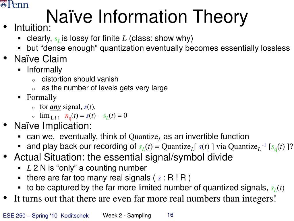 Naïve Information Theory