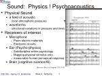 sound physics psychoacoustics