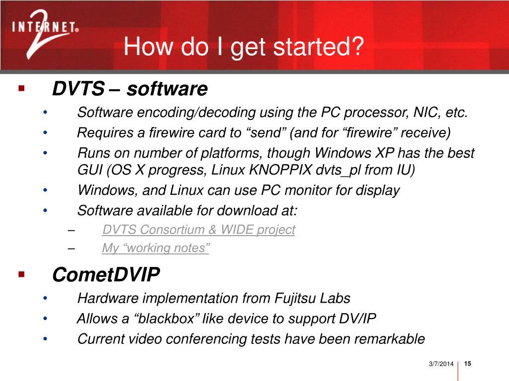 DVTS – software