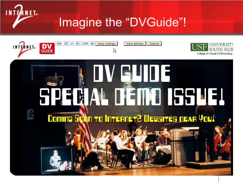 "Imagine the ""DVGuide""!"