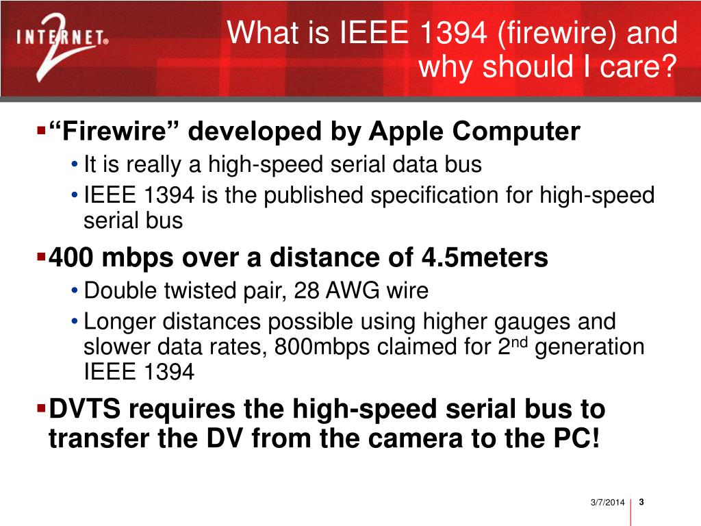 What is IEEE 1394 (firewire) and why should I care?