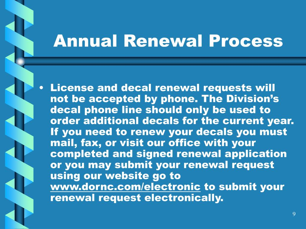 Annual Renewal Process