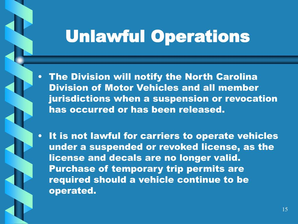 Unlawful Operations