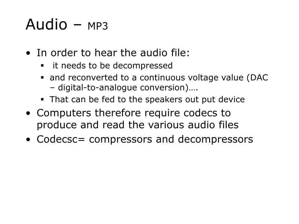 Audio –