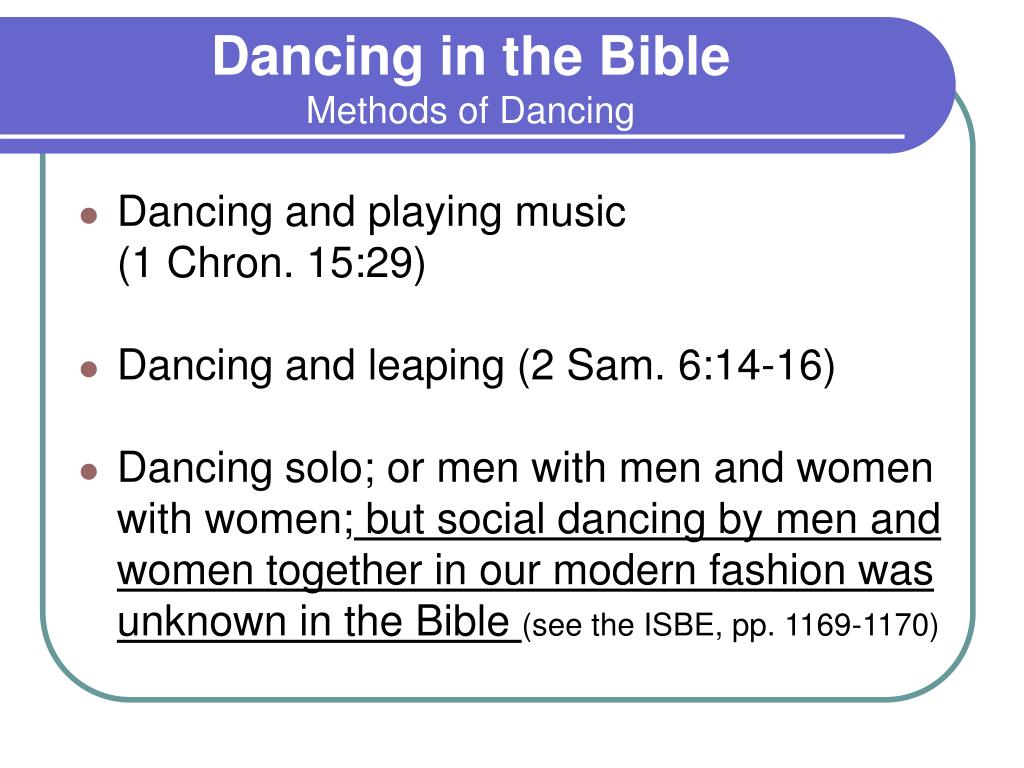 Dancing in the Bible