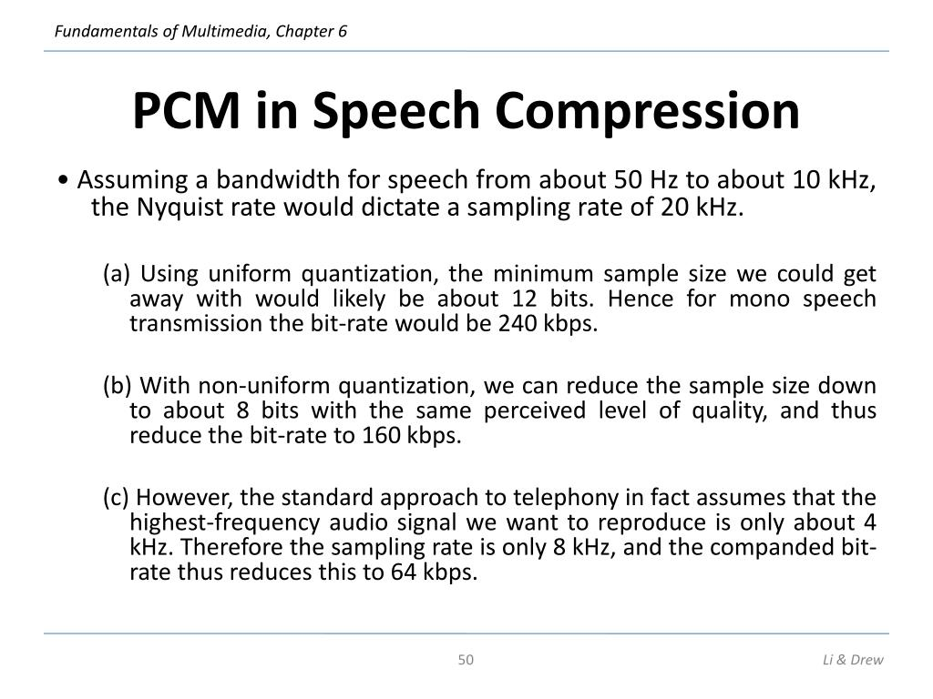 PCM in Speech Compression