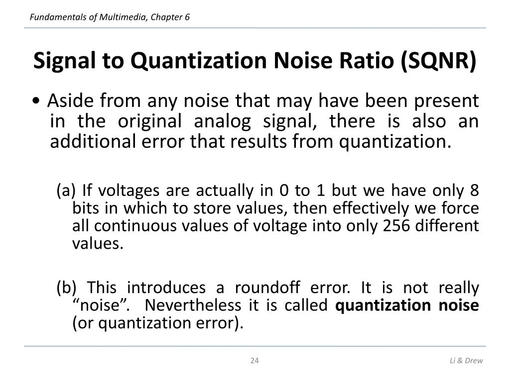 Signal to Quantization Noise Ratio (SQNR)