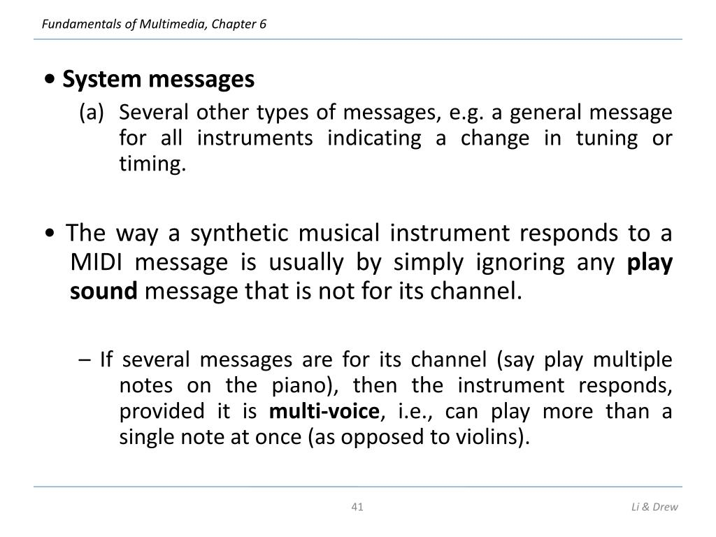 • System messages