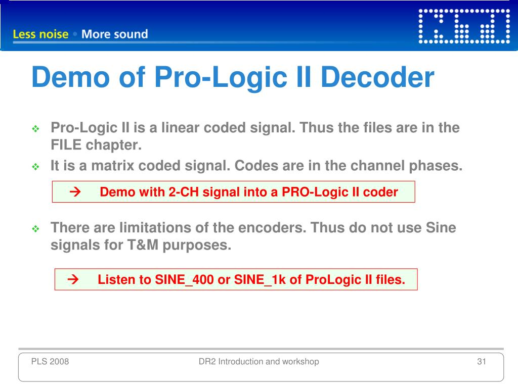 Demo of Pro-Logic II Decoder