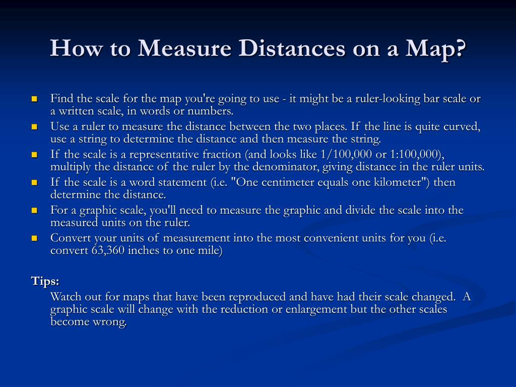 How to Measure Distances on a Map?