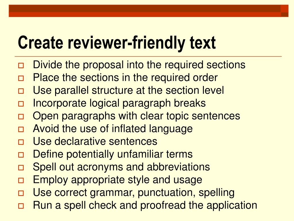 Create reviewer-friendly text