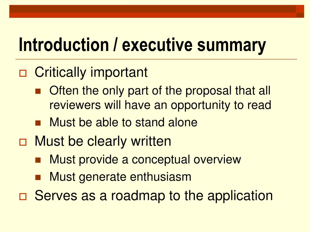 Introduction / executive summary