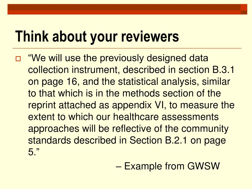 Think about your reviewers