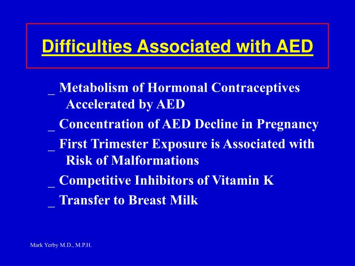Difficulties Associated with AED