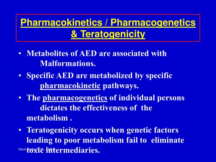 Pharmacokinetics / Pharmacogenetics