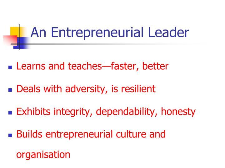 An Entrepreneurial Leader
