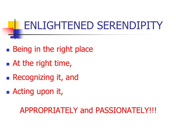 ENLIGHTENED SERENDIPITY