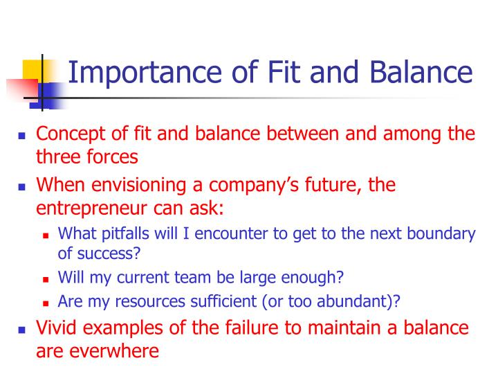 Importance of Fit and Balance