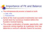 importance of fit and balance1