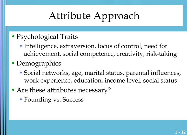 Attribute Approach
