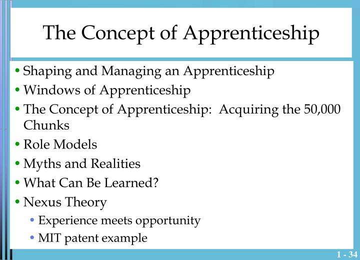 The Concept of Apprenticeship