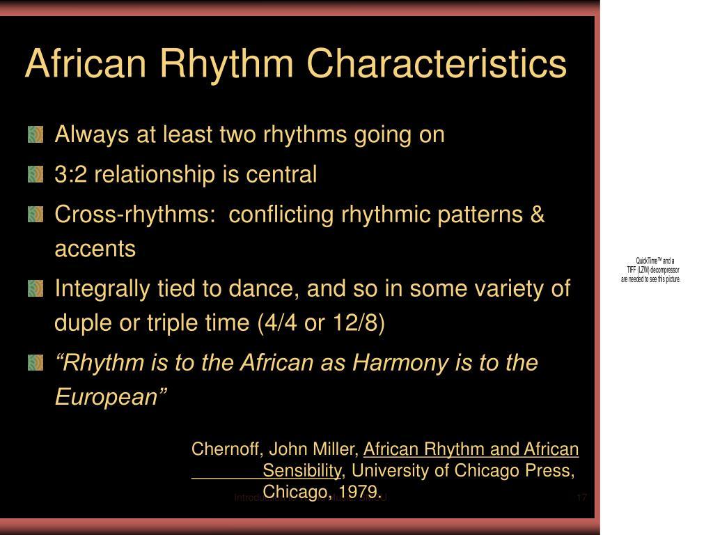 African Rhythm Characteristics