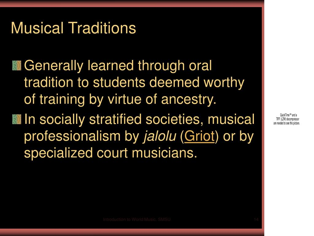 Musical Traditions