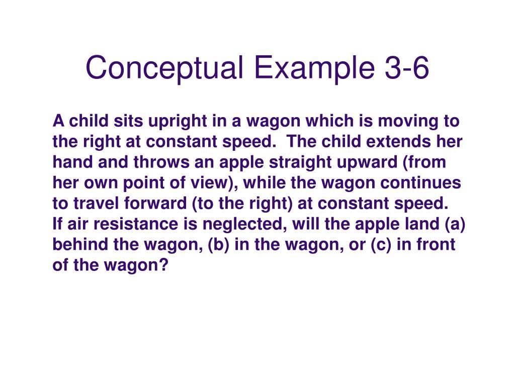 Conceptual Example 3-6
