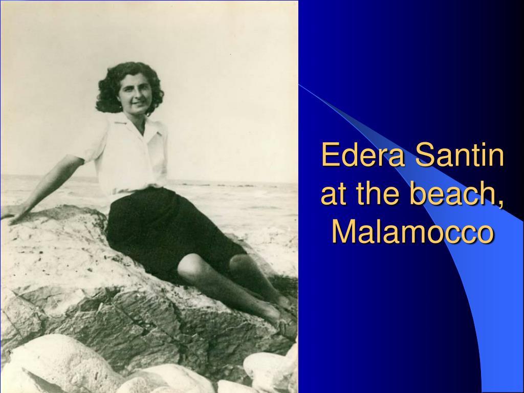 Edera Santin at the beach, Malamocco