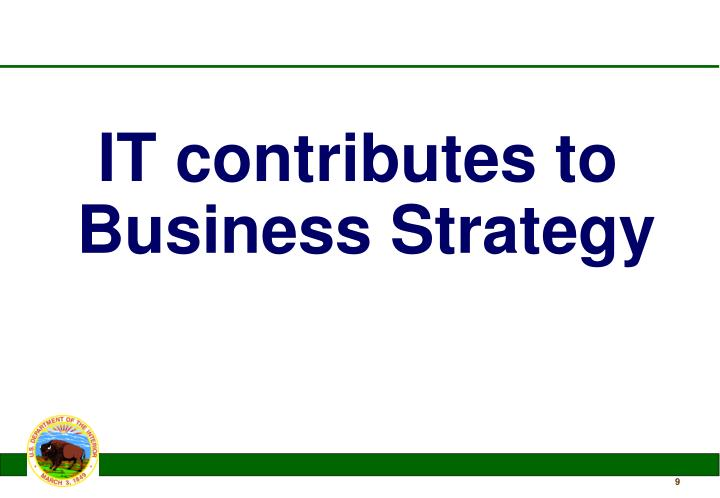 IT contributes to Business Strategy