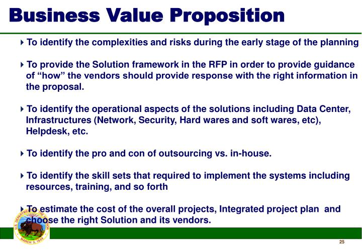 Business Value Proposition