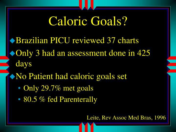 Caloric Goals?