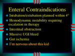 enteral contraindications