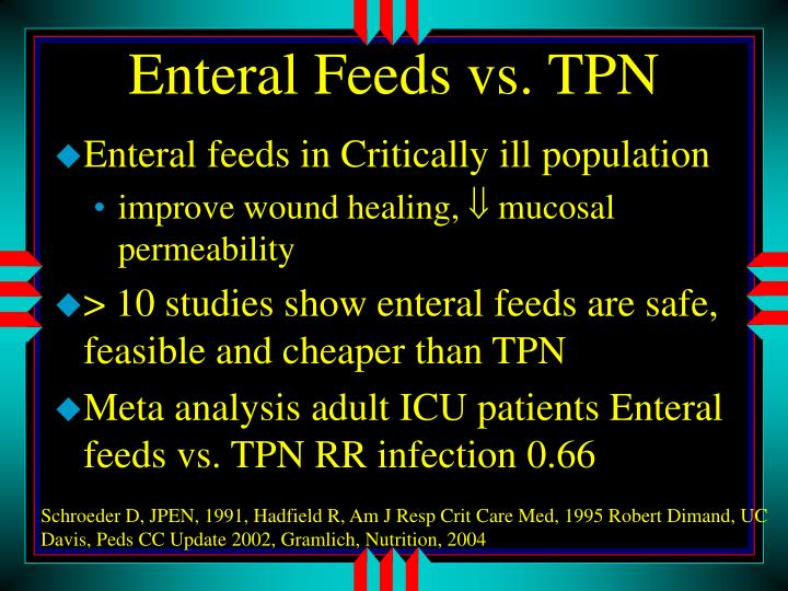 Enteral Feeds vs. TPN
