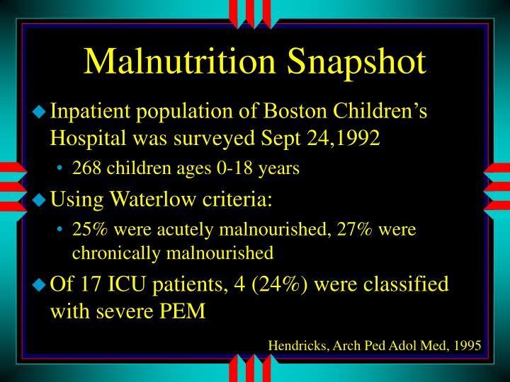 Malnutrition Snapshot