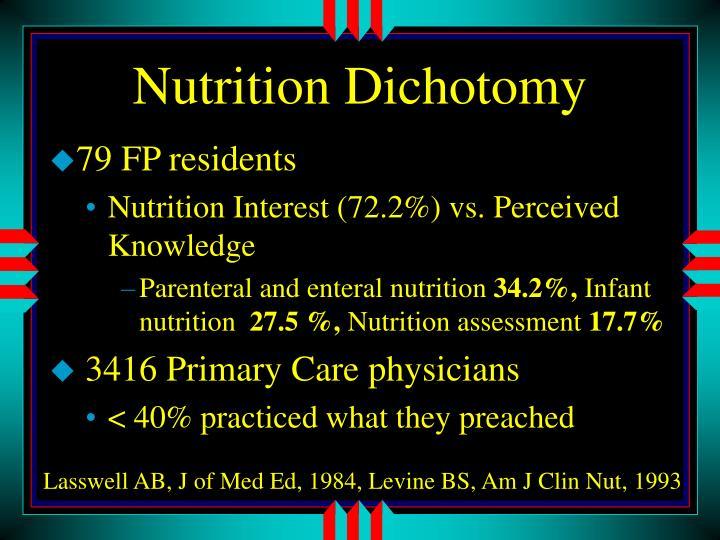 Nutrition Dichotomy